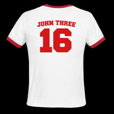 White/red John Three 16 Jersey Men