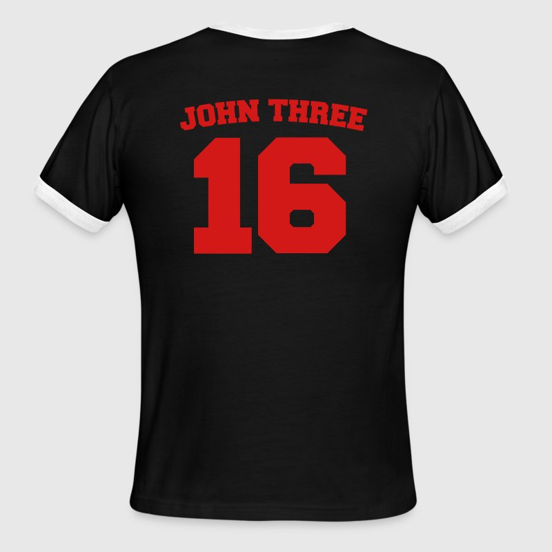White/red John Three 16 Jersey Men - Men's Ringer T-Shirt