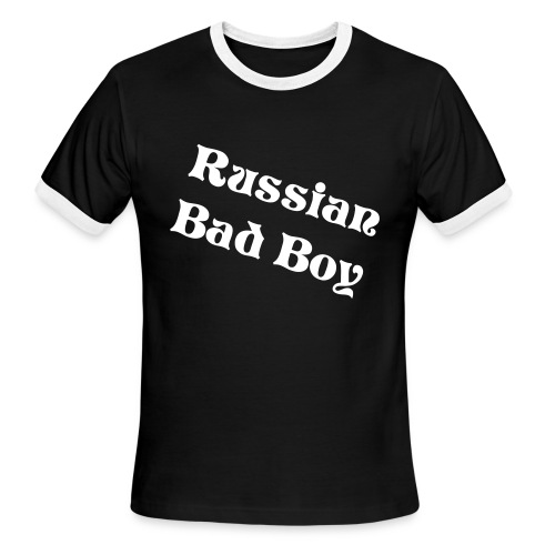 Russian Bad Boy Black/White - Men's Ringer T-Shirt