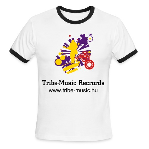 Tribe-Music Records T-Shirt - Men's Ringer T-Shirt