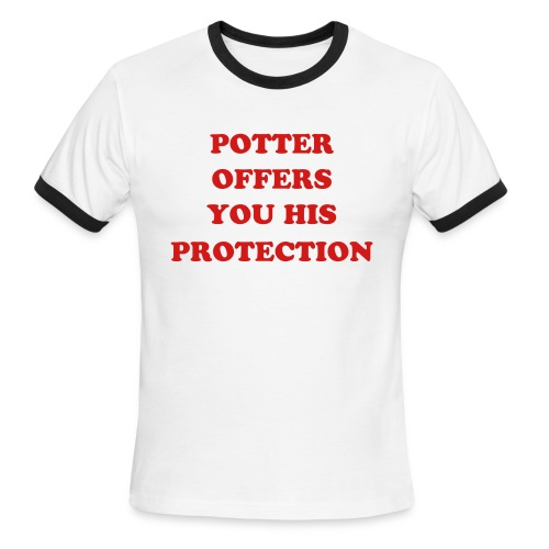 Potter offers you his protection - Men's Ringer T-Shirt
