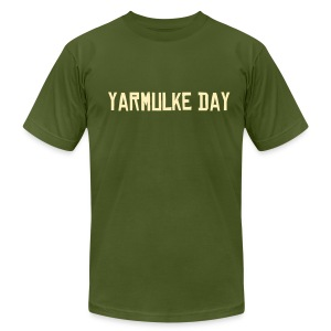 Yarmulke Day T-Shirt with EST. 2003 On Sleeve - Men's Fine Jersey T-Shirt