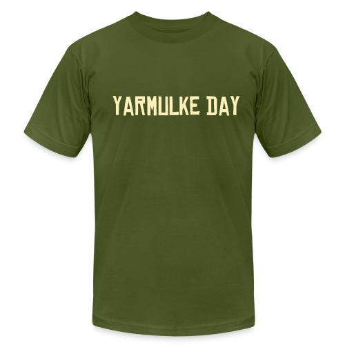 Yarmulke Day T-Shirt with EST. 2003 On Sleeve - Men's  Jersey T-Shirt