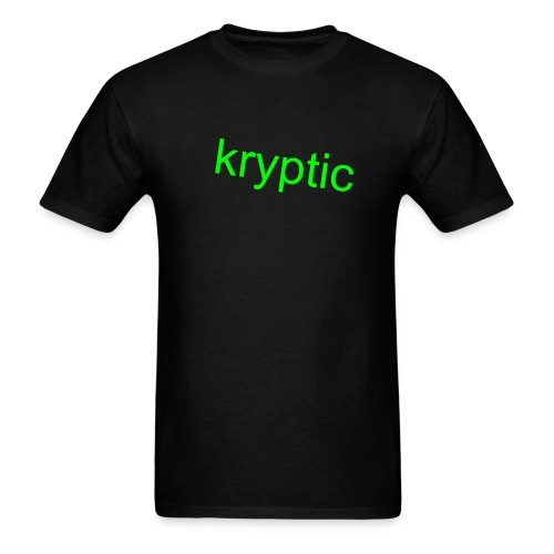 basic tee, kryptic - Men's T-Shirt
