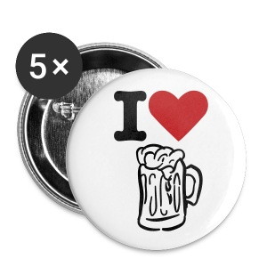 I Love Beer! - Large Buttons