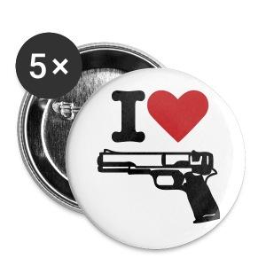 I Love Guns! - Large Buttons