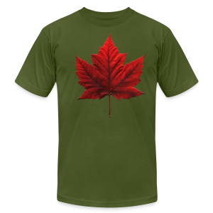 Canada Maple Leaf Souvenir T-shirt Mens Souvenir Tee - Men's T-Shirt by American Apparel