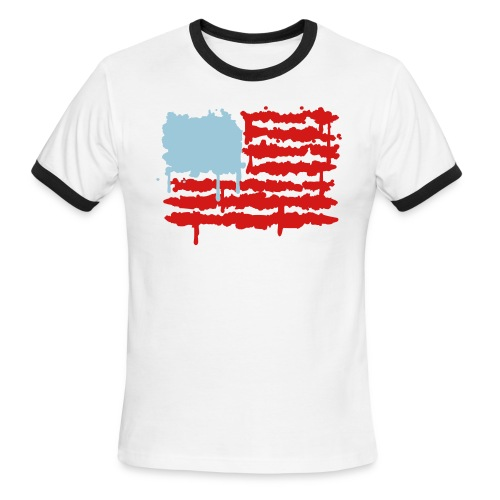 Bleed Red White & Blue - Men's Ringer T-Shirt