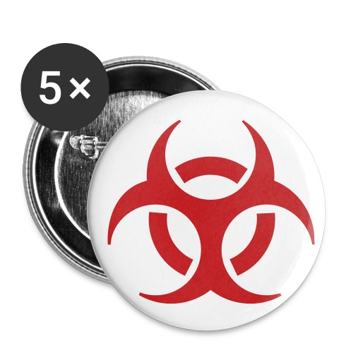 simple biohazard button - Small Buttons