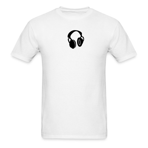 Headphones White-T - Men's T-Shirt