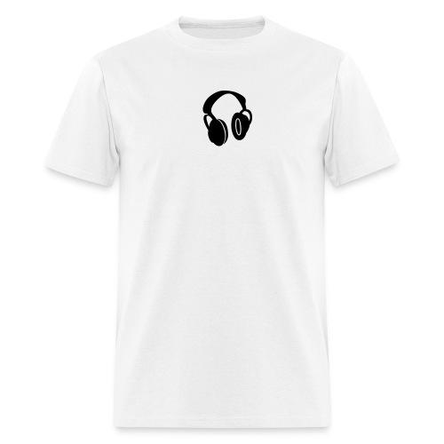 Headphones White-T - Men's T-Shirt