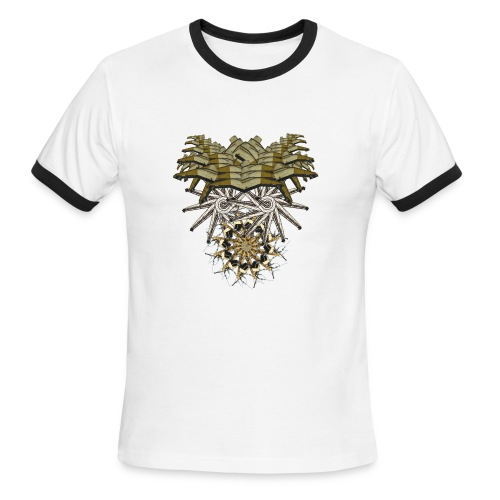 tribal mask 1b - Men's Ringer T-Shirt