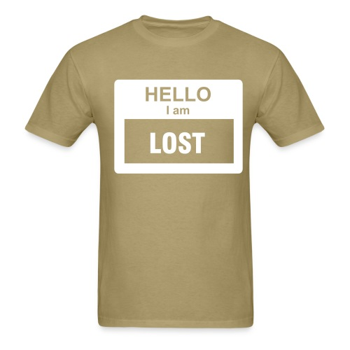 Hello Mens Khaki T-Shirt - Men's T-Shirt