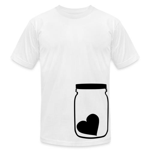 B&W Heart in a Jar Tee - Men's Fine Jersey T-Shirt