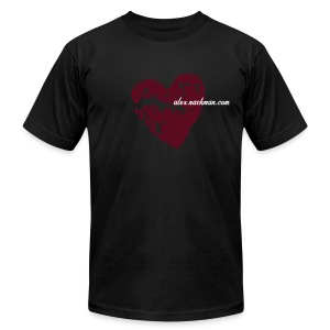 Broken-Heart Tee - Men's T-Shirt by American Apparel