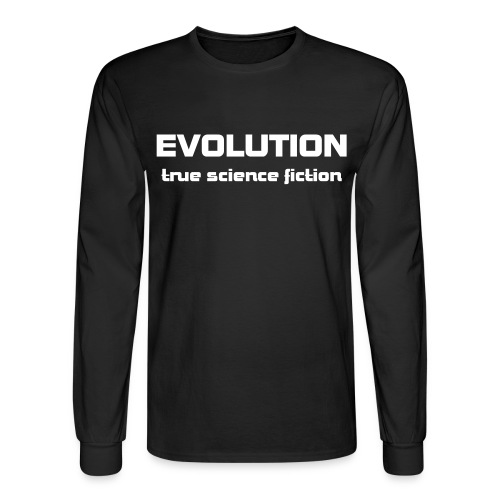 Evolution: True science fiction - Men's Long Sleeve T-Shirt