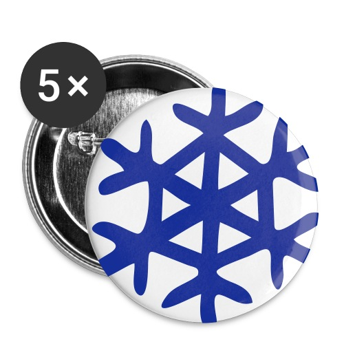 Snowflake Pin - Small Buttons