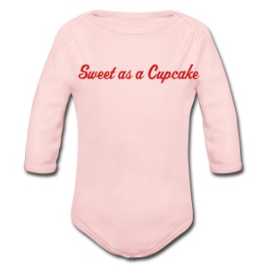 Sweet as a Cupcake Pink One size - Long Sleeve Baby Bodysuit