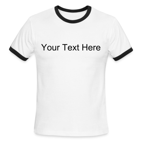 Custom Text Lightweight Ringer Tee - Men's Ringer T-Shirt