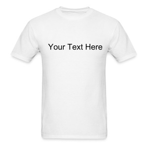 Custom Text Lightweight Cotton T-Shirt - Men's T-Shirt