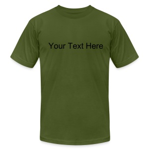 Custom Text Men's Jersey Tee - Men's Fine Jersey T-Shirt