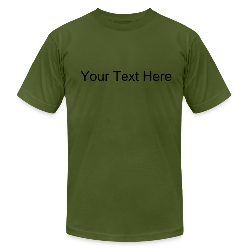 Custom Text Men's Jersey Tee - Men's  Jersey T-Shirt