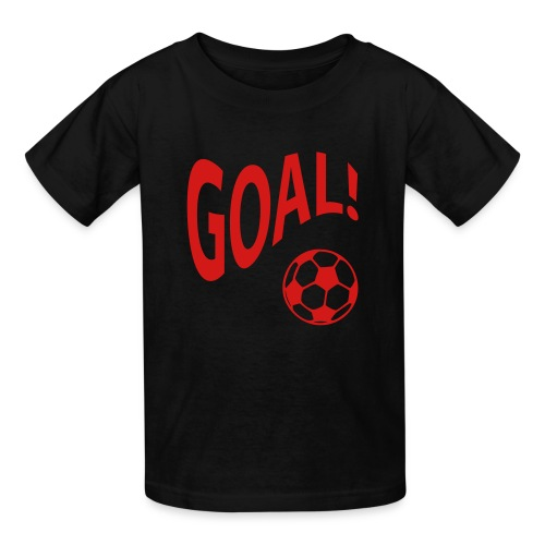 goal doing the wave w/basketball in black - Kids' T-Shirt