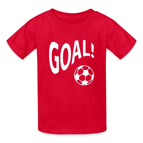 goal doing the wave w/basketball in red - Kids' T-Shirt