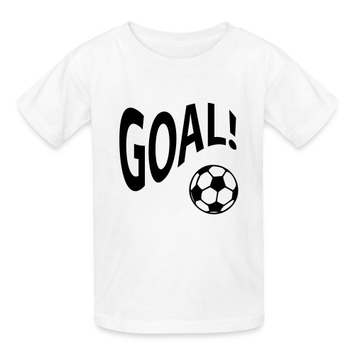 goal doing the wave w/basketball in white - Kids' T-Shirt
