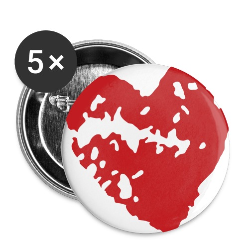Heart pin set - Large Buttons