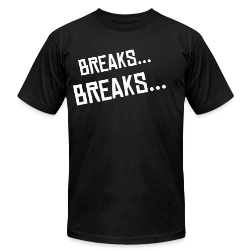 Breakbeat Lovers Tee - Mens American Apparel  - Men's Fine Jersey T-Shirt