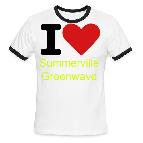 I Heart Summerville Greenwave Shirt - Men's Ringer T-Shirt