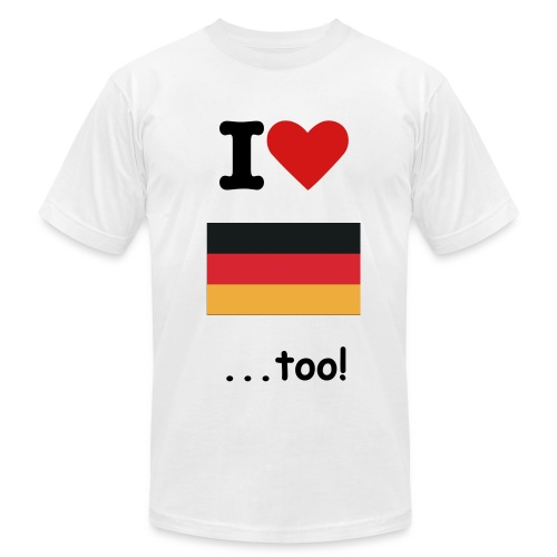 I Love Germany too! - Men's Fine Jersey T-Shirt