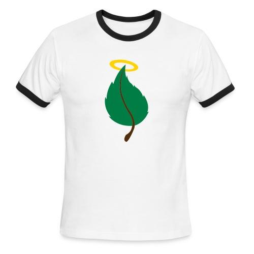 Holy Leaf (mens retro green) - Men's Ringer T-Shirt