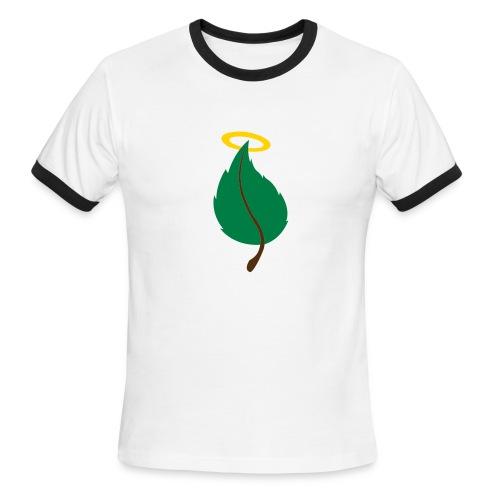 Holy Leaf (mens retro light blue) - Men's Ringer T-Shirt