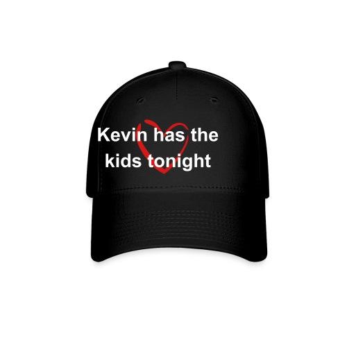 Heart ball cap, Kevin's got the kids tonight - Baseball Cap