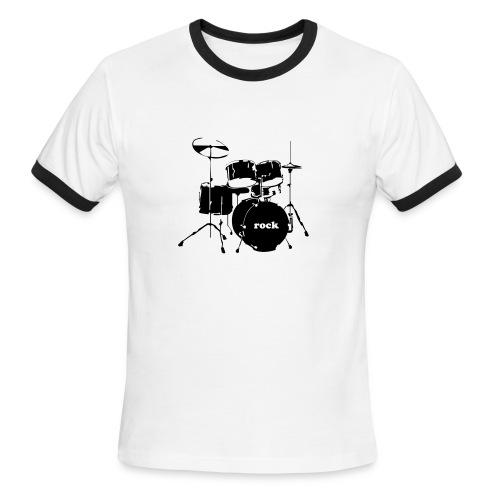 Drummer Cross Lightweight Ringer Tee - Men's Ringer T-Shirt