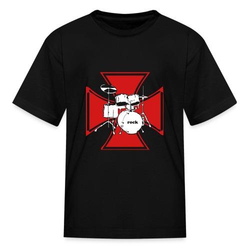 Drummer Cross Children's T-Shirt - Kids' T-Shirt