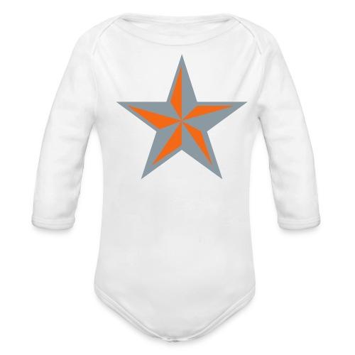 Nautical Star - Organic Long Sleeve Baby Bodysuit