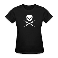 T-Shirts ~ Women's T-Shirt ~ DEATH PROOF SKULL T-Shirt