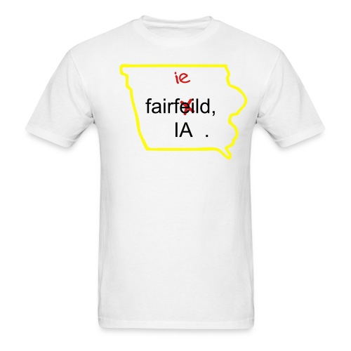 Fairfeild, IA Cultural Bubble WHT - Men's T-Shirt