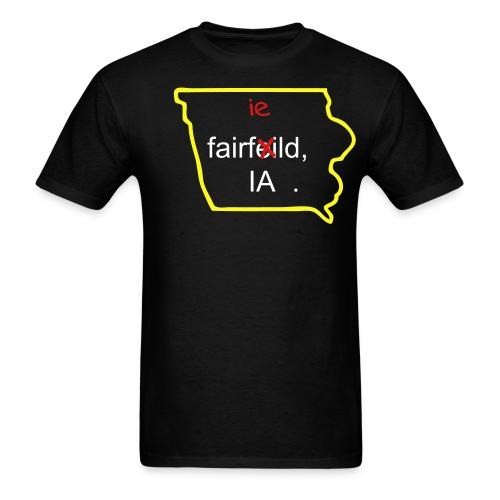 Fairfeild, IA Cultural Bubble BLK - Men's T-Shirt