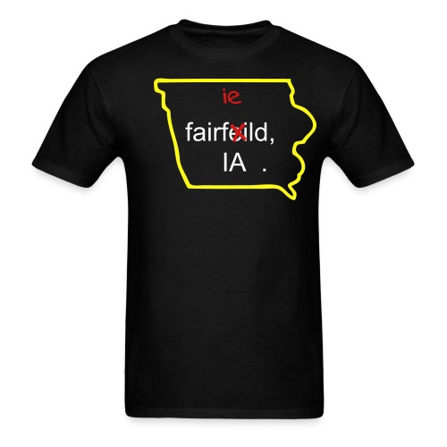 Fairfeild, IA BLK - Men's T-Shirt