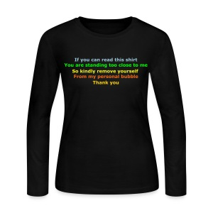 Personal Bubble Invaders - Women's Long Sleeve Jersey T-Shirt