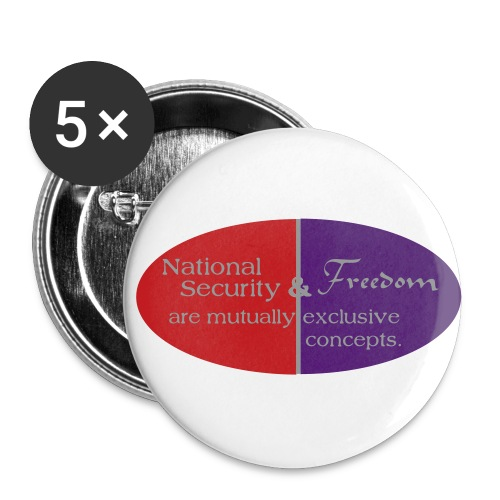National Security - Buttons large 2.2'' (5-pack)
