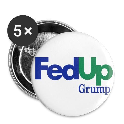 FedUp Grump - Buttons large 2.2'' (5-pack)