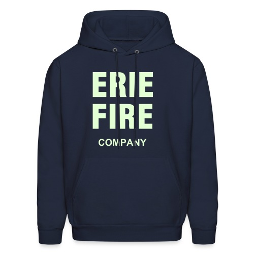 Erie Fire Company -Blue-  Glows in the Dark! - Men's Hoodie