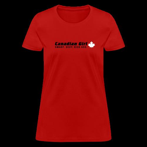 Canadian Girl - Women's T-Shirt