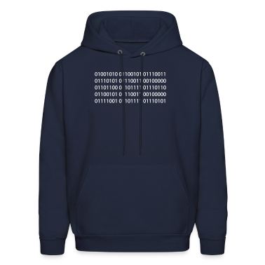 Navy Jesus Loves You Binary Sweatshirt