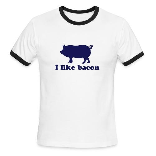 I like Bacon - Men's Ringer T-Shirt
